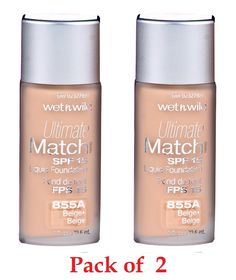 Wet N' Wild Ultimate Match Spf15 Foundation 855A Beige (Pack of 2) -- More info could be found at the image url. #beautyandmakeup
