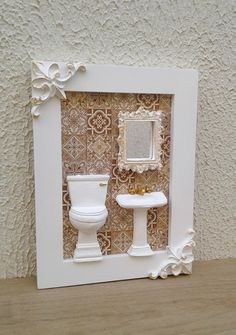 Creative Arts And Crafts, Easy Crafts, Diy And Crafts, Photo Frame Decoration, Cute Picture Frames, Doll House Crafts, Baby Frame, Decoupage Vintage, Hanging Hearts