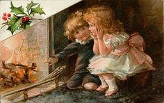 Ambrosia y encaje antiguo: Vintage Tarjetas de Navidad