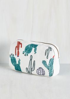 You and Cacti Makeup Bag, #ModCloth