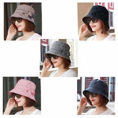0307503d14d Pink bucket hat with bow for women packable sun hats spring wear