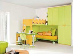 Colombini gyerekbútor, emeletes ágy, szekrény és íróasztal