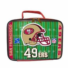 San Francisco 49ers NFL Soft Sided Lunch Box by NFL. $10.99. BRAND NEW -  SAN FRANCISCO 49ers Officially Licensed Football SOFT Lunch Box Lunch Bag -Team logos and NFL logos on lunch box, Helmet & Field Vinyl Lunch Box, Elastic strap inside keeps your drink upright and in place, Easy to clean vinyl construction ... wipes off easily THIS IS AN OFFICIALLY LICENSED NFL SPORTS PRODUCT WITH A Strap Inside For Drink. Great Looking Lunch Bag for the Special Fans .....13231...