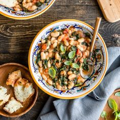 This Slow Cooker Tuscan Bean Soup makes a humble bag of dried beans into a filling, hearty meal. It can be made in a pressure cooker or Instant Pot too! Tuscan Bean Soup, White Bean Soup, Rustic Italian Bread, Cream Of Broccoli Soup, Vegan Soup, Vegetarian, Red Lentil Soup, How To Cook Beans, Hot Soup