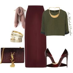 Hijab Outfit by le-hijab-de-doudou on Polyvore featuring polyvore, moda, style, Topshop, River Island, Christian Louboutin, Yves Saint Laurent, Miss Selfridge, Forever 21 and fashion