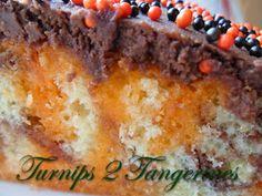 Turnips 2 Tangerines: Halloween Poke Cake #recipe #food #sweettreats