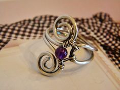 Sterling+silver+wire+wrap+ring+with+by+SerendipityHandcraft,+$32.00