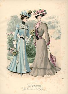 Walking suits, Netherlands, 1901, De Gracieuse