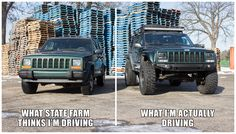 Since Memes and Rage comics are banned in r/jeep, this is the place for your offroading humor. All offroaders, FJ's, trucks, anything with a good. Jeep Xj Mods, Jeep 4x4, Jeep Truck, Jeep Garage, Jeep Grand Cherokee Limited, Jeep Cherokee Xj, Jeep Quotes, Jeep Humor, Jeep Baby
