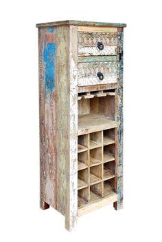 ... Schrank Kommode Massiv Recycling Holz Möbel Bunt Vintage Retro