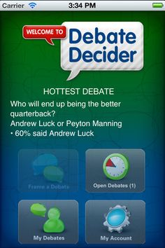 Debate Decider - This app provides an easy way for you to take polls of your Twitter followers. Designed for those moments when you're locked in a heated debate with a friend, the Debate Decider gives you an easy way to survey your followers in order to settle the debate by popular vote. These polls are completely customizable, allowing you to choose the questions, the possible answers, and the total time for each question to be posted. Click the image for our full review.