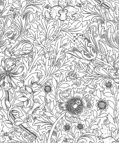 Adult Coloring / William Morris ウィリアム・モリスの塗り絵① | Art,etc.