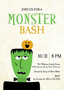 Mixbook Frankenstein Halloween Cards and Invitations