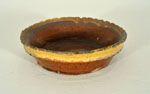 Posey Basket White slip design of tulips, cottage & flowers Dimensions: H 9cm x W 9.5 cm  www.burtonartgallery.co.uk