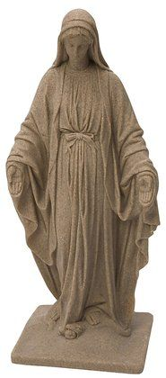 Virgin Mary Statue Sand 34""