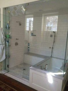If you are looking for Master Bathroom Shower Remodel Ideas, You come to the right place. Here are the Master Bathroom Shower Remodel Ideas. Bathroom Renos, Bathroom Renovations, Remodel Bathroom, Bathroom Small, Dyi Bathroom, Bathroom Makeovers, Bathroom Cabinets, Bathroom Interior, Minimal Bathroom
