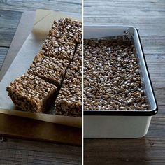 Cocoa Peppermint Rice Crispy Treats | Nicole Hunn