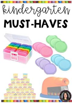 Kindergarten teachers need these teacher essentials before the kiddos enter through the door. Here are 33 teacher must-haves. Kindergarten Classroom Setup, Welcome To Kindergarten, Kindergarten Lesson Plans, Homeschool Kindergarten, Future Classroom, Classroom Ideas, Homeschooling, Beginning Kindergarten, Kindergarten Reading Corner