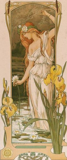 Art nouveau – Indeed, the Naturalistic forms. Such women also look good in jeans and are likely to go barefoot. Art nouveau – Indeed, the Naturalistic forms. Such women also look good in jeans and are likely to go barefoot. Fleurs Art Nouveau, Motifs Art Nouveau, Design Art Nouveau, Art Nouveau Poster, Art Design, Art Nouveau Tattoo, Art Nouveau Mucha, Art And Illustration, Inspiration Art