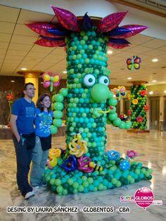 El arbol animado de globos / balloon tree