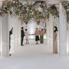 Wedding Design Board Flower New Ideas Ballroom Wedding, Wedding Stage, Wedding Halls, Backdrop Decorations, Backdrops, Backdrop Ideas, Wedding Trends, Wedding Designs, Wedding Ideas