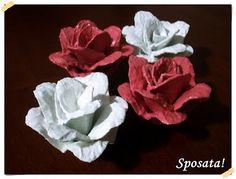 Sposata!: Passo a passo - Rosas de caixas de ovos