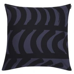 Rautasänky cushion cover 50 x 50 cm, dark grey, by Marimekko. Designer Maija Isola.