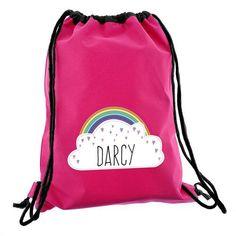 Personalised Pink Swim/Kit Bag - Rainbow