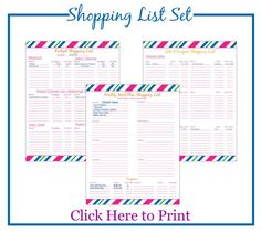 Printable Shopping List: Budget Meal Planning   http://simpleethrifty.com/printable-shopping-list-budget-meal-planning/
