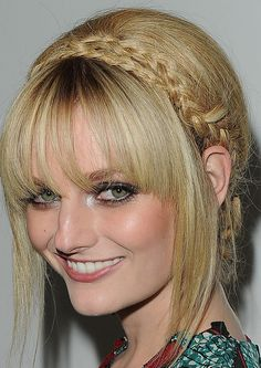 Lydia Hearst Braided Updo