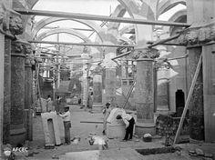 Hospital de Sant Pau, picapedres treballant any 1902-1912