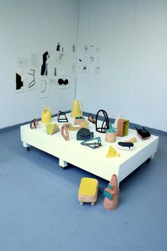 Constructivist ceramics - my fav - the parking cone on the floor... really, I like the geometry.