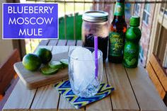 Yummy Blueberry Moscow Mules - Girly Schtuff