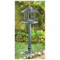 VERDIGRIS GAZEBO STANDING BIRD FEEDER -- Want to know more, click on the image.(It is Amazon affiliate link) #BirdsIdeas Flag Pole Landscaping, Small Yard Landscaping, Small Backyard Landscaping, Modern Landscaping, Garden Gazebo, Lawn And Garden, Garden Tools, Backyard Birds, Backyard Patio