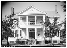 Colonel Joseph R. Hawthorne House, Broad Street (County Road 59), Pine Apple, Wilcox County, AL