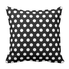 black and white polka dots throw pillow.  Take a look at even more at the image link