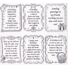"birthday sentiments | Double Embossed Textsheet with ""Birthday"" Verses in Silver - S652861ST"