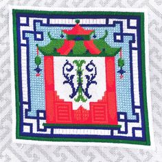 Crafts Latest Collection Of Kate Dickerson Hand Painted Needlepoint Canvas Kit American Front Porch Autumn Other Needlecraft Supplies