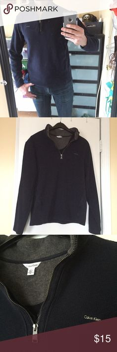 ⭐️Host Pick⭐️Calvin Klein Quarter Zip Soft Thermal 100% Cotton Calvin Klein Quarter Zip Soft Thermal Shirt. Gently used....in great condition with no rips, holes, or stains. ⭐️Chosen as a Host Pick by @ctlnwilliams for Men's Style Party⭐️ Calvin Klein Sweaters Zip Up