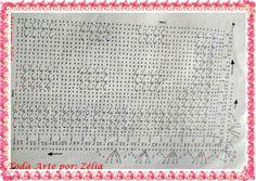 Tapete de Crochê em Ponto Alto Relevo com Gráfico