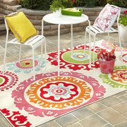 "Take a look at the Mohawk Home event on #zulily today! #OutdoorBliss #Mohawk and ""I love this indoor/outdoor rug!""  My daughters would really like the cheery summer colors of this rug."