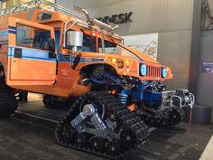 Antarctica-Bound Hybrid-Electric Hummers Visit Pier 9