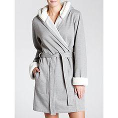 Buy John Lewis Sherpa Marl Robe, Grey Marl from our Women's Nightwear range at John Lewis & Partners. Belt Tying, Loungewear, Fur Trim, John Lewis, Faux Fur, How To Make, How To Wear, Grey, Stuff To Buy