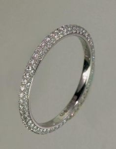 Lucie Campbell 3-Sided Pave Eternity Band