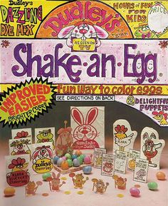 When I was a kid, I looked forward to Easter just to open up this Dudley Shake an Egg kit. It was so fun and cartoony and special. School Memories, My Childhood Memories, Best Memories, Vintage Easter, Vintage Holiday, Ed Vedder, Before I Forget, Back In My Day, Easter Parade
