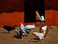 Chickens by Min Ma