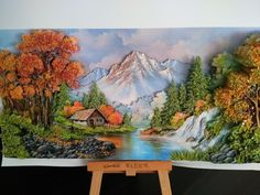 Polymer Clay Painting, 3d Painting, Nature Paintings, Landscape Paintings, Landscapes, Clay Wall Art, Clay Art Projects, 3d Landscape, Framed Wall Art