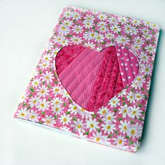 Scrappy Love DIY Notebook Cover - Make a homemade Valentine's Day gift with this sewn notebook cover.