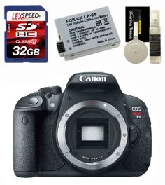 Canon T5i Body + 32GB + Battery + Cleaning Kit