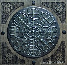 Viking Compass. Nordic influence  on Ireland and Scotland - a modern piece of artwork.  It is amazing the power and influence ancient symbols and decorative elements still have on us.